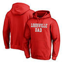 Louisville Cardinals Fanatics Branded Team Dad Pullover Hoodie - Red