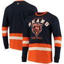 Chicago Bears G-III Sports by Carl Banks Even Strength Long Sleeve T-Shirt – Navy/Orange