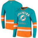 Miami Dolphins G-III Sports by Carl Banks Even Strength Long Sleeve T-Shirt – Aqua/Orange