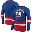 New York Giants G-III Sports by Carl Banks Even Strength Long Sleeve T-Shirt – Royal/Red