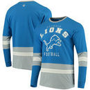 Detroit Lions G-III Sports by Carl Banks Even Strength Long Sleeve T-Shirt - Blue/Silver