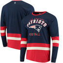 New England Patriots G-III Sports by Carl Banks Even Strength Long Sleeve T-Shirt – Navy/Red