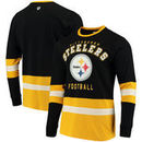 Pittsburgh Steelers G-III Sports by Carl Banks Even Strength Long Sleeve T-Shirt – Black/Gold