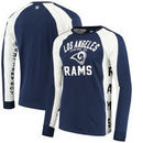 Los Angeles Rams Hands High Switch Hitter Long Sleeve T-Shirt - Navy/White