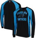 Carolina Panthers Hands High Switch Hitter Long Sleeve T-Shirt - Black/Blue