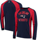 New England Patriots Hands High Switch Hitter Long Sleeve T-Shirt - Navy/Red