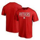 Rutgers Scarlet Knights Fanatics Branded Big & Tall True Sport Lacrosse T-Shirt - Red