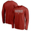 Harvard Crimson Fanatics Branded True Sport Lacrosse Long Sleeve T-Shirt - Cardinal