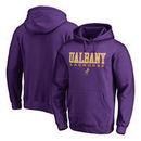 Albany Great Danes Fanatics Branded True Sport Lacrosse Pullover Hoodie - Purple