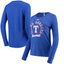 Texas Rangers Under Armour Women's Charged Long Sleeve T-Shirt - Royal