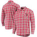 Arizona Cardinals Wordmark Flannel Long Sleeve Button-Up - Cardinal/Black