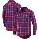 Buffalo Bills Wordmark Flannel Long Sleeve Button-Up - Royal/Red
