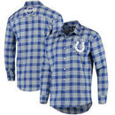 Indianapolis Colts Wordmark Flannel Long Sleeve Button-Up - Blue/White