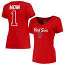 Boston Red Sox Fanatics Branded Women's Plus Sizes #1 Mom T-Shirt - Red