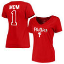 Philadelphia Phillies Fanatics Branded Women's Plus Sizes #1 Mom T-Shirt - Red