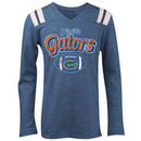 Florida Gators 5th & Ocean by New Era Girls Youth Football Long Sleeve Tri-Blend V-Neck T-Shirt - Heathered Royal