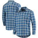 Detroit Lions Wordmark Flannel Long Sleeve Button-Up - Blue/Silver