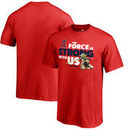 Los Angeles Angels Fanatics Branded Youth Star Wars Jedi Strong T-Shirt - Red