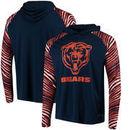 Chicago Bears Zubaz Team Logo Long Sleeve Hooded T-Shirt - Navy/Orange