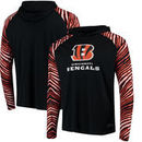 Cincinnati Bengals Zubaz Team Logo Long Sleeve Hooded T-Shirt - Black/Orange