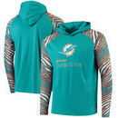 Miami Dolphins Zubaz Team Logo Long Sleeve Hooded T-Shirt - Aqua/Orange