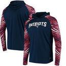 New England Patriots Zubaz Team Logo Long Sleeve Hooded T-Shirt - Navy/Red