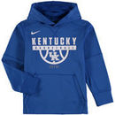 Kentucky Wildcats Nike Youth Basketball Therma Performance Pullover Hoodie – Royal