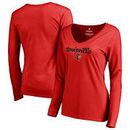 Louisville Cardinals Fanatics Branded Women's Freehand Long Sleeve T-Shirt - Red