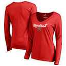 Maryland Terrapins Fanatics Branded Women's Freehand Long Sleeve T-Shirt - Red