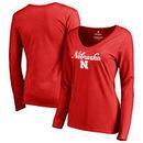 Nebraska Cornhuskers Fanatics Branded Women's Freehand Long Sleeve T-Shirt - Red