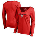 Wisconsin Badgers Fanatics Branded Women's Freehand Long Sleeve T-Shirt - Red