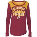 Washington Redskins 5th & Ocean by New Era Girls Youth Glitter Football Long Sleeve T-Shirt – Burgundy