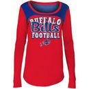 Buffalo Bills 5th & Ocean by New Era Girls Youth Glitter Football Long Sleeve T-Shirt – Red