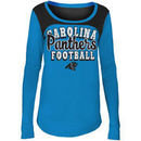 Carolina Panthers 5th & Ocean by New Era Girls Youth Glitter Football Long Sleeve T-Shirt – Blue