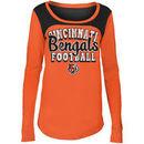 Cincinnati Bengals 5th & Ocean by New Era Girls Youth Glitter Football Long Sleeve T-Shirt – Orange