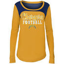 Los Angeles Chargers 5th & Ocean by New Era Girls Youth Glitter Football Long Sleeve T-Shirt – Powder Blue