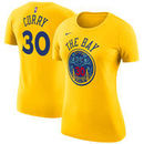 Stephen Curry Golden State Warriors Nike Women's City Edition Name & Number Performance T-Shirt – Gold