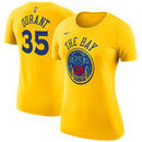 Kevin Durant Golden State Warriors Nike Women's City Edition Name & Number Performance T-Shirt – Gold