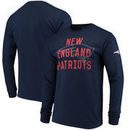 New England Patriots Fade Route Long Sleeve T-Shirt - Navy