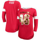 San Francisco 49ers PINK by Victoria's Secret Women's Pieced Boyfriend Jersey T-Shirt – Scarlet
