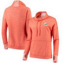 Miami Dolphins Antigua Women's Snap Cowl Neck Pullover Sweatshirt – Orange
