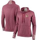Washington Redskins Antigua Women's Snap Cowl Neck Pullover Sweatshirt – Burgundy