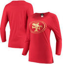 San Francisco 49ers 5th & Ocean by New Era Women's Scoop With Foil Logo Long Sleeve T-Shirt – Scarlet