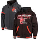 Cleveland Browns G-III Extreme Hot Shot Reversible Full-Zip Hoodie – Brown/Charcoal