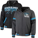 Carolina Panthers G-III Extreme Hot Shot Reversible Full-Zip Hoodie – Black/Charcoal