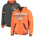Denver Broncos G-III Extreme Hot Shot Reversible Full-Zip Hoodie – Orange/Charcoal