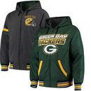 Green Bay Packers G-III Extreme Hot Shot Reversible Full-Zip Hoodie – Green/Charcoal
