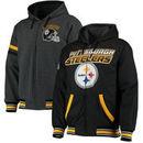 Pittsburgh Steelers G-III Extreme Hot Shot Reversible Full-Zip Hoodie – Black/Charcoal