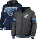 Tennessee Titans G-III Extreme Hot Shot Reversible Full-Zip Hoodie – Navy/Charcoal