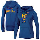 Navy Midshipmen Under Armour Women's Blue Angels Fleece Performance Hoodie - Royal